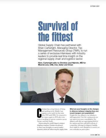 Survival of the fittest – Global Supply Chain Interview Series – The